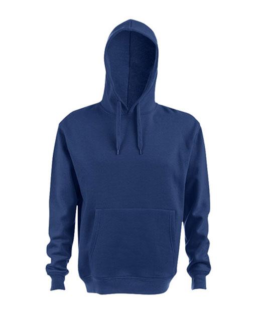 Felpa con cappuccio personalizzata, unisex, blu