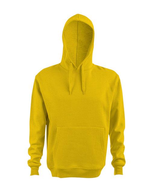 Felpa con cappuccio personalizzata, unisex, giallo