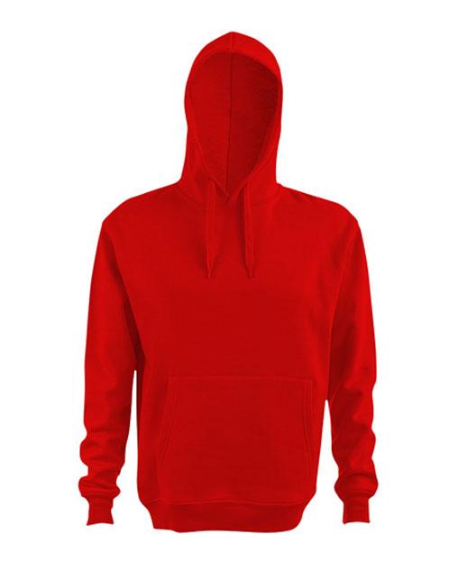 Felpa con cappuccio personalizzata, unisex, rosso