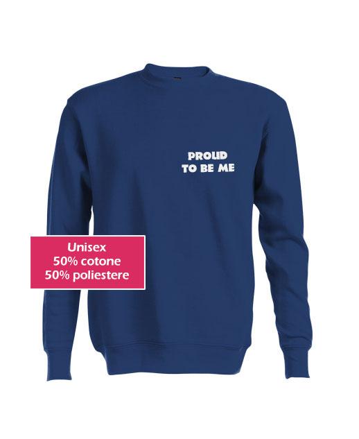 Felpa personalizzata unisex blu - Tuo Gadget