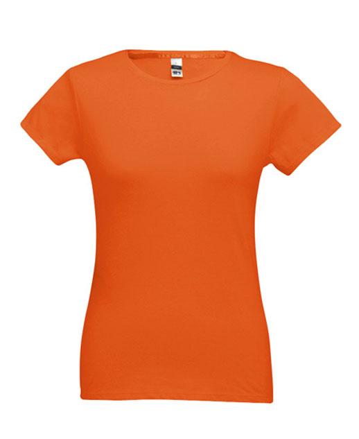 T-shirt da donna personalizzata, cotone 150 gr., colorata arancione