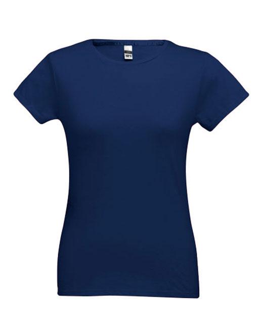 T-shirt da donna personalizzata, cotone 150 gr., colorata blu