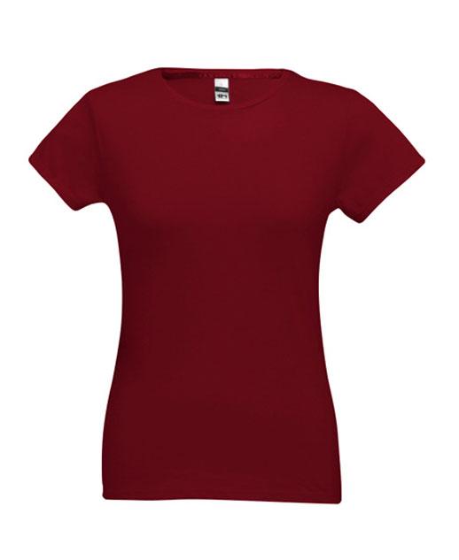 T-shirt da donna personalizzata, cotone 150 gr., colorata bordeaux