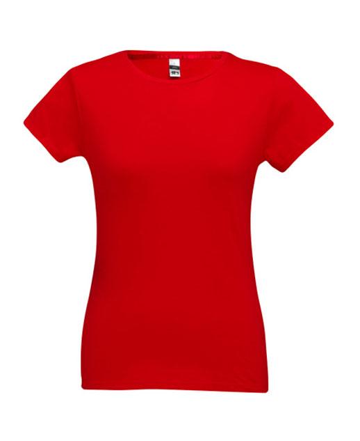T-shirt da donna personalizzata, cotone 150 gr., colorata rossa