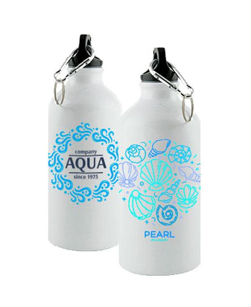 Borraccia stampa sublimazione Subli, in alluminio, personalizzata aqua