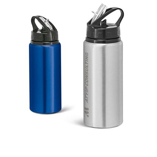 Borraccia sportiva alluminio Sporty, gruppo con borraccia personalizzata logo consulting