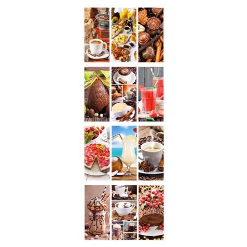 Calendario personalizzato o neutro con foto caffè e dolci, Calendario caffè 2020, pagine interne