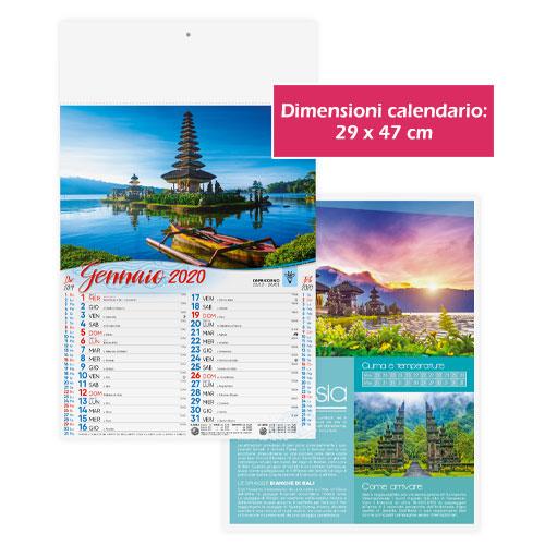 Calendario personalizzato o neutro panorami, Calendario panoramic 2020, dimensioni