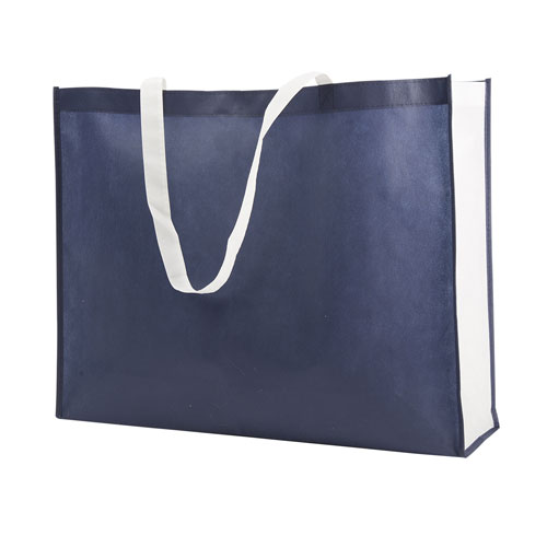 Borsa shopper Joyfull in TNT, disponibile personalizzata o neutra, colore blu