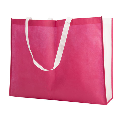 Borsa shopper Joyfull in TNT, disponibile personalizzata o neutra, colore fucsia