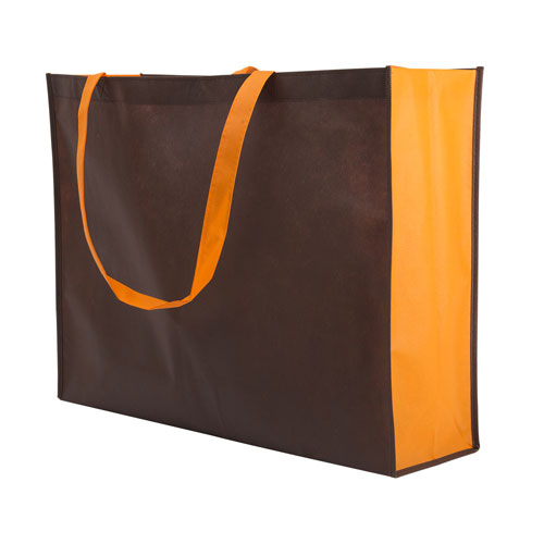 Borsa shopper Joyfull in TNT, disponibile personalizzata o neutra, colore marrone