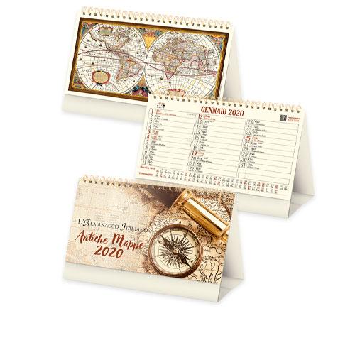 Calendario da tavolo personalizzato old, calendario 2020 disponibile neutro o personalizzato