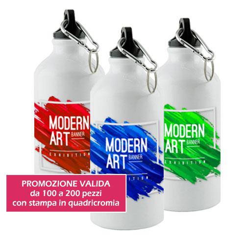 Borraccia stampa sublimazione Subli, in alluminio, personalizzata art gruppo, promozione