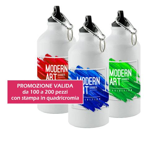 Borraccia stampa sublimazione Subli, in alluminio, personalizzata art gruppo, promozione, cover