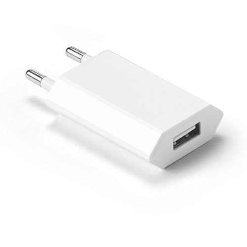 Adattatore USB Box da parete, colore bianco, disponibile neutro o personalizzato