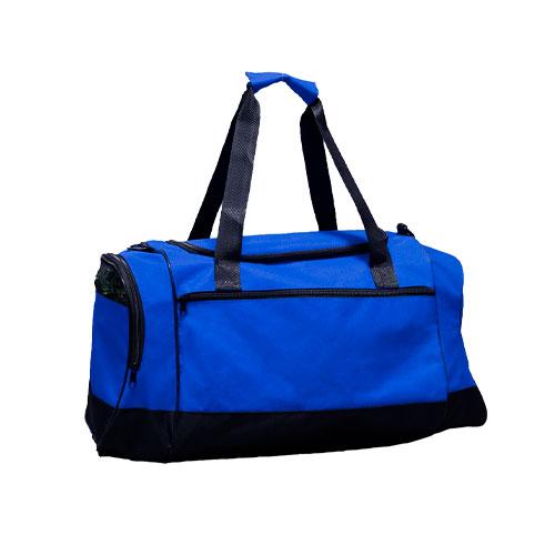 Borsone sportivo Middle, borsone in poliestere disponibile neutro o personalizzato, colore blu