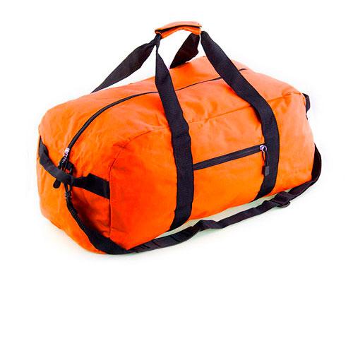 Borsone sportivo Reef, borsone in poliestere disponibile neutro o personalizzato, colore arancione, cover