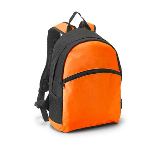 zaino con tasche net arancione