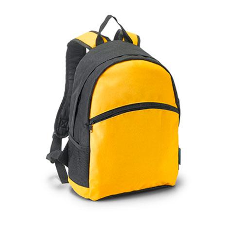 zaino con tasche net giallo