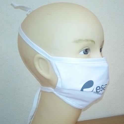 Mascherina riutilizzabile, mascherina lavabile in cotone, personalizzata, bianca personalizzata