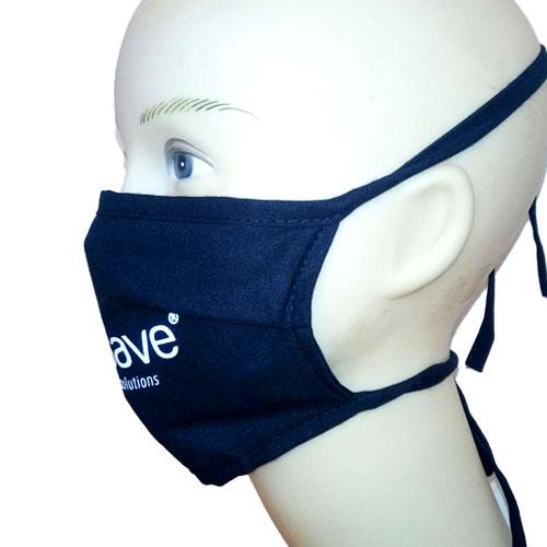 Mascherina riutilizzabile, mascherina lavabile in cotone, personalizzata, indossata