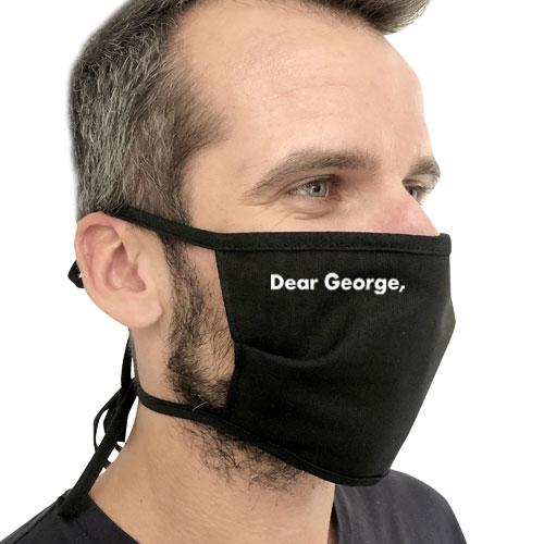 Mascherina riutilizzabile, mascherina in cotone e fizelina, disponibile bianca o nera, mascherina personalizzata, mascherina cotton personalizzata