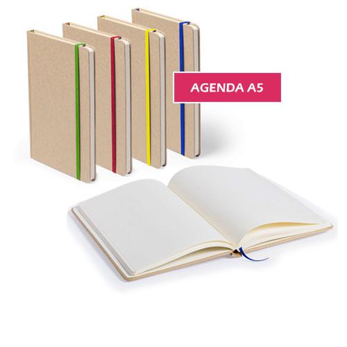 Agenda A5 Card, agenda in cartoncino riciclato, disponibile neutra o personalizzata, cover