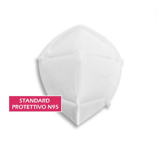 mascherina protettiva N95, con certificazioni CE, alto potere filtrante