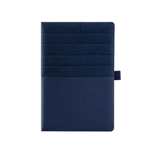 Agendina Double personalizzata A5, blocco a righe in similpelle, colore blu