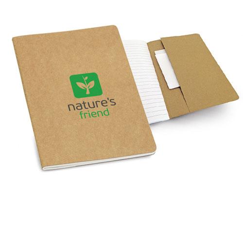 Quaderno Eco, blocco note A5 a righe in carta riciclata, cover logo