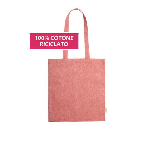 Shopper Fiber, stopper in cotone riciclato, disponibile neutra o personalizzata, cover