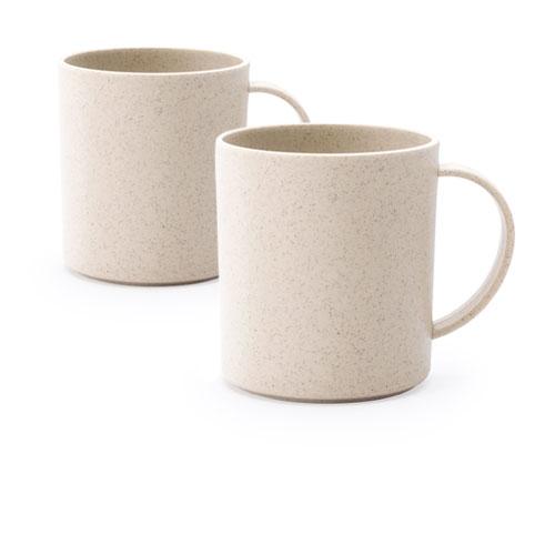 Tazza personalizzata Bambù, tazza riciclata disponibile neutra o personalizzata, colore naturale, cover