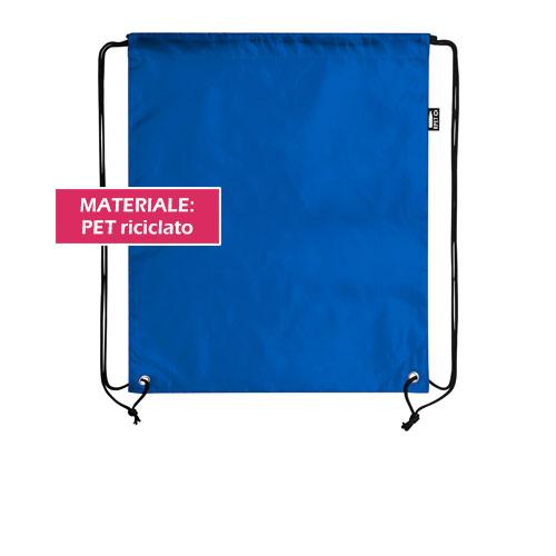 Zaino Eco Subli, zaino a sacca in PET riciclato, personalizzabile in sublimazione, cover