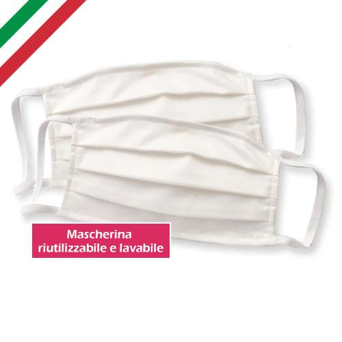 mascherina protettiva riutilizzabile lavabile, National, made in italy