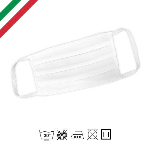 mascherina protettiva riutilizzabile lavabile, National, made in italy, istruzioni di lavaggio