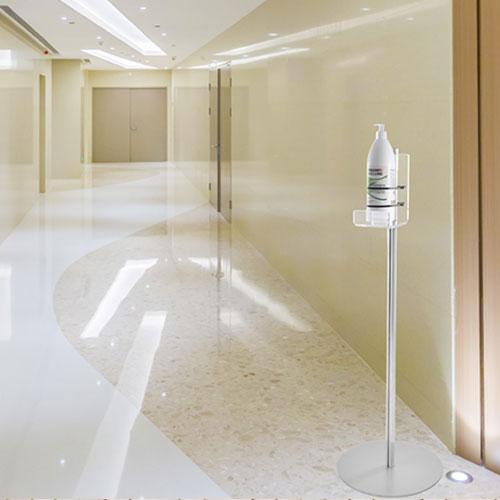 Colonnina porta dispenser basic, per gel igienizzante mani, ideale per ufficio