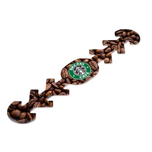 Fascia per mascherina confort, personalizzata caffetteria, stampata con motivo caffé