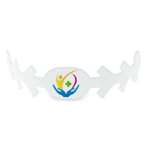 Fascia per mascherina confort, personalizzata, piegata con stampa personalizzata
