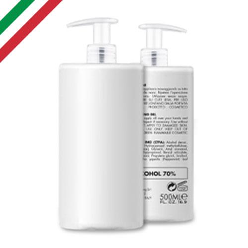 Gel igienizzante 500, gel igienizzante mani con pompetta