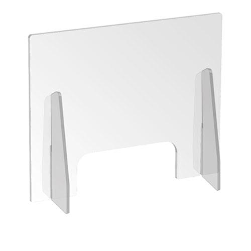 Parafiato in plexiglass trasparente su fondo bianco
