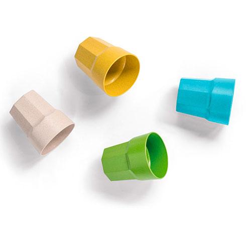 Bicchiere personalizzato biodegradabile composizione copertina