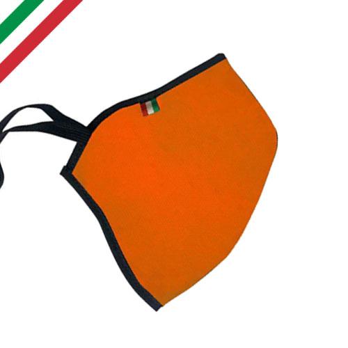 Mascherina personalizzata basic color, personalizzata a un colore, colore arancione