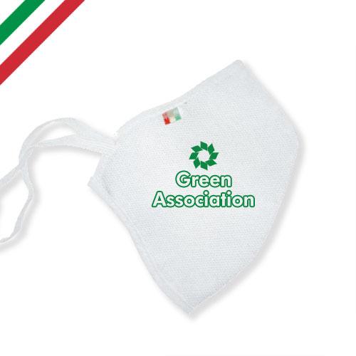 Mascherina personalizzata basic color, personalizzata a un colore, colore bianco personalizzata