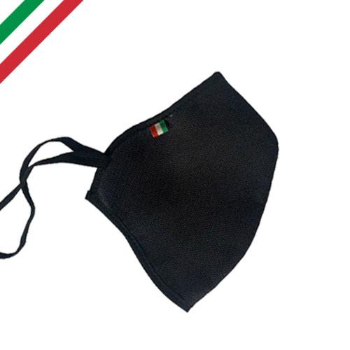 Mascherina personalizzata basic color, personalizzata a un colore, colore nero