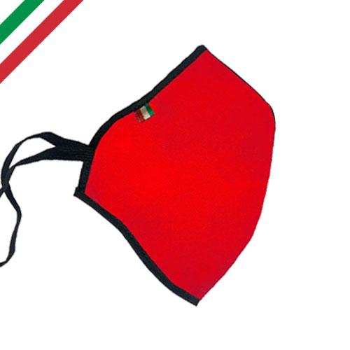Mascherina personalizzata basic color, personalizzata a un colore, colore rosso