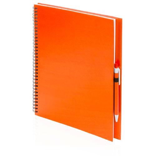 Quaderno riciclato a spirale A4 arancione