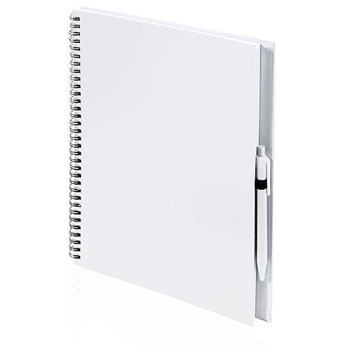 Quaderno riciclato a spirale A4 bianco