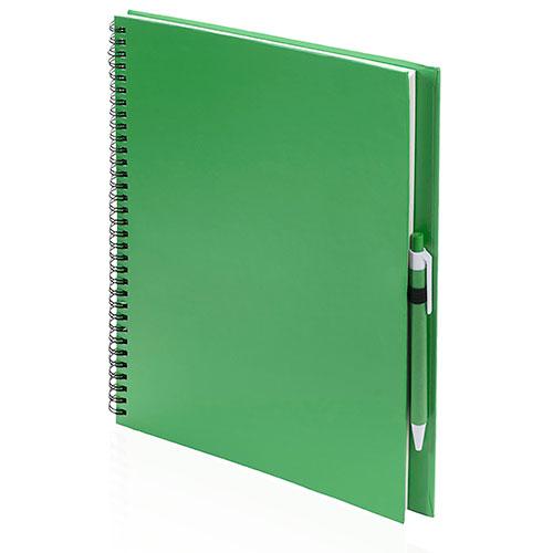 Quaderno riciclato a spirale A4 verde