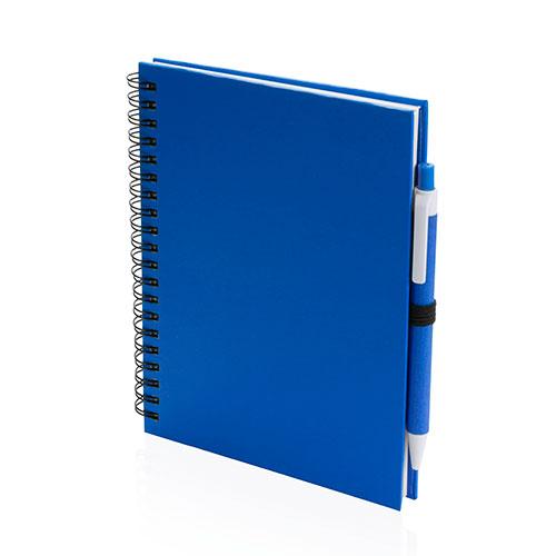 Quaderno riciclato a spirale A5 blu