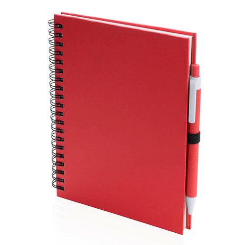 Quaderno riciclato a spirale A5 rosso